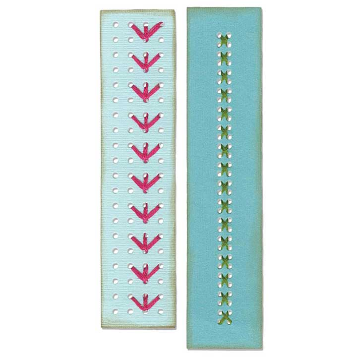 Sizzix Thinlits Dies - Border Stitchlits by Eileen Hull (2pk)