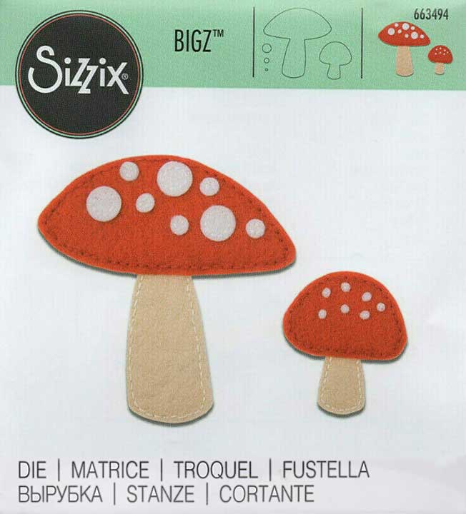 Sizzix Bigz Die - Toadstools