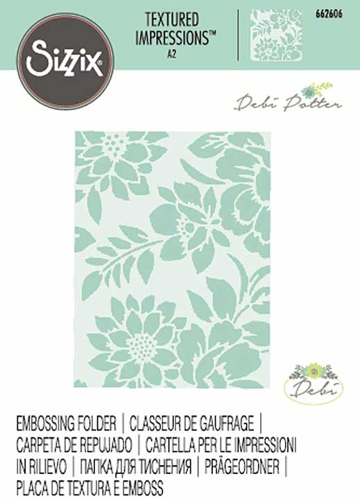 Sizzix Textured Impressions - Botanicals by Debi Potter
