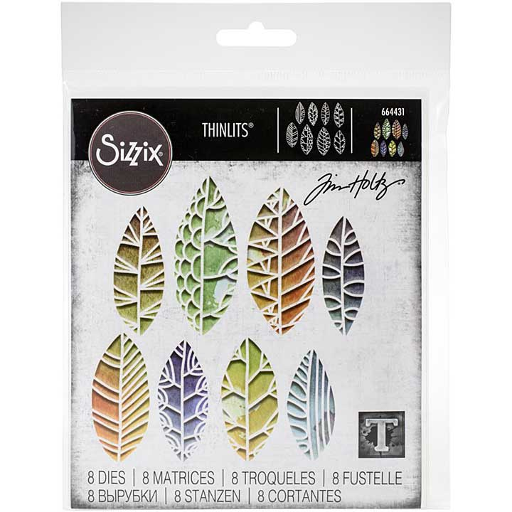SO: Sizzix Thinlits Die Set - Cut Out Leaves by Tim Holt (8PK)