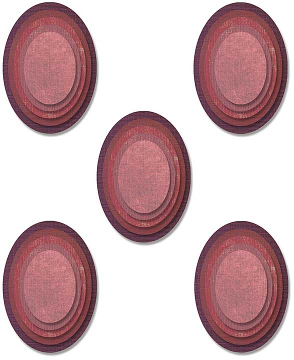 Sizzix Thinlits Dies By Tim Holtz 25pk - Stacked Tiles Ovals