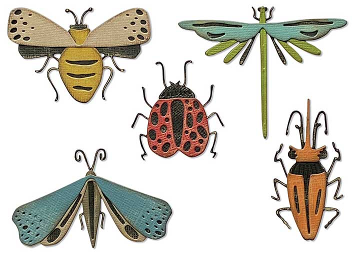 Sizzix Thinlits Dies By Tim Holtz 5pk - Funky Insects