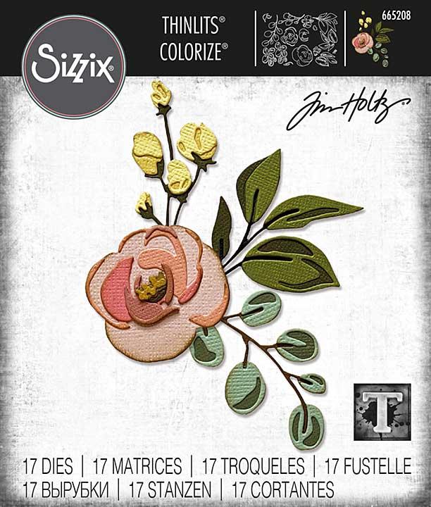 Sizzix Thinlits Dies By Tim Holtz 18pk - Bloom Colorize