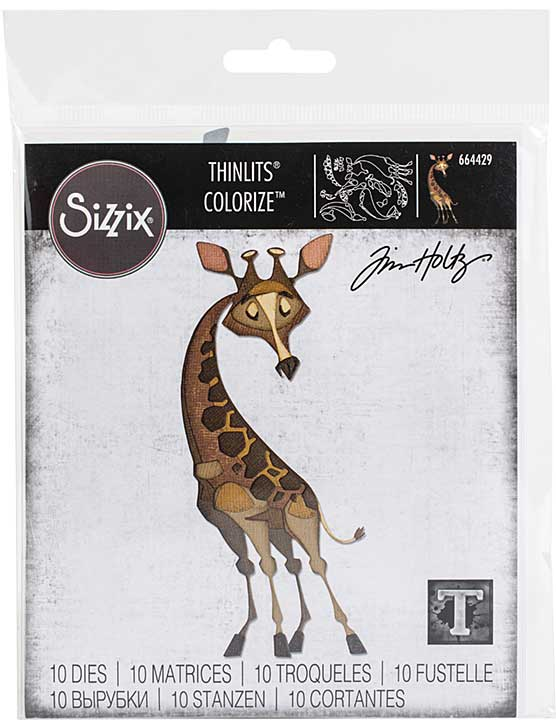 Sizzix Thinlits Dies By Tim Holtz - Gertrude, Colorize