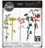 Sizzix Thinlits Dies By Tim Holtz 5pk - Wildflower Stems #3