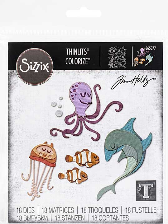 Sizzix Thinlits Dies By Tim Holtz 22pk - Under The Sea #1 Colorize