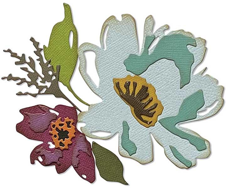 Sizzix Thinlits Dies By Tim Holtz 5pk - Brushstroke Flowers #3