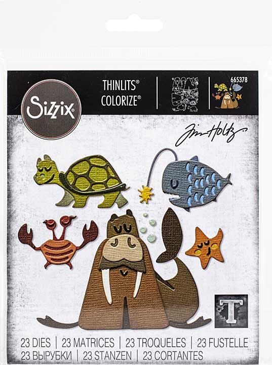 Sizzix Thinlits Dies By Tim Holtz 23pk - Under The Sea #2 Colorize
