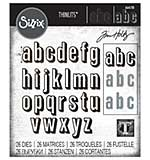 Sizzix Thinlits Dies By Tim Holtz 26pk - Alphanumeric, Shadow Lower