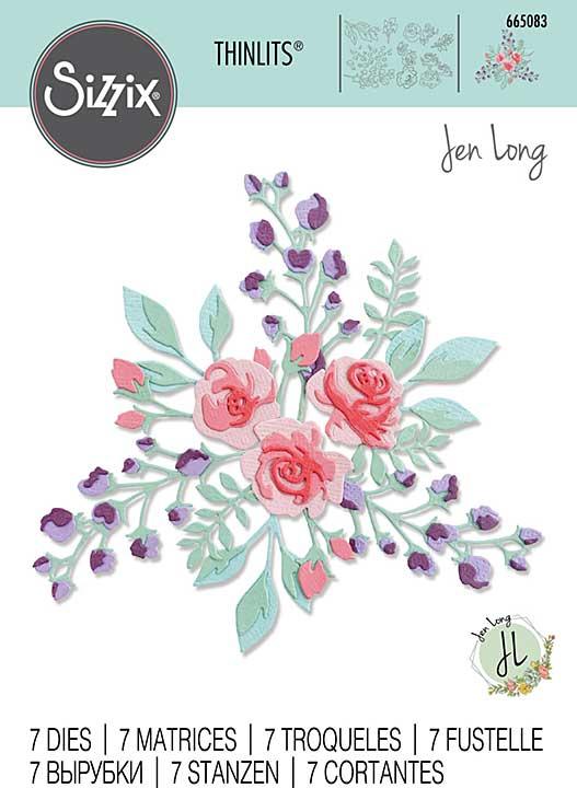 Sizzix Thinlits Dies By Jen Long 7pk - Floral Layers #2