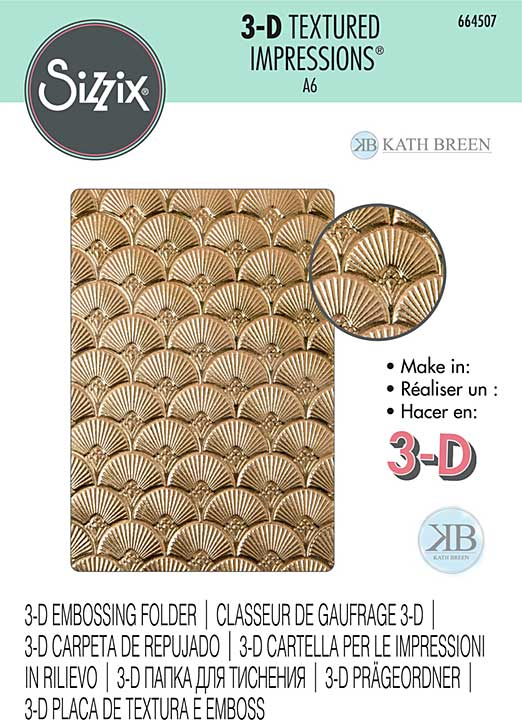 Sizzix 3D Textured Impressions By Kath Breen - Art Deco