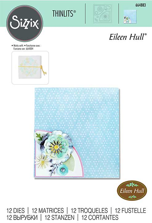 Sizzix Thinlits Die By Eileen Hull - Folio Page Pocket & Flowers