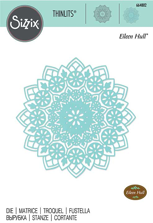 Sizzix Thinlits Die By Eileen Hull - Mandala
