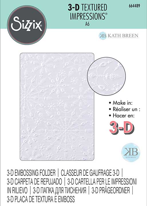 Sizzix 3D Textured Impressions By Kath Breen - Jeweled Snowflakes