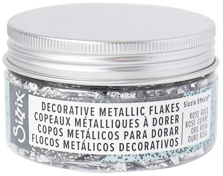 Sizzix Effectz Decorative Metallic Flakes 100ml - Silver