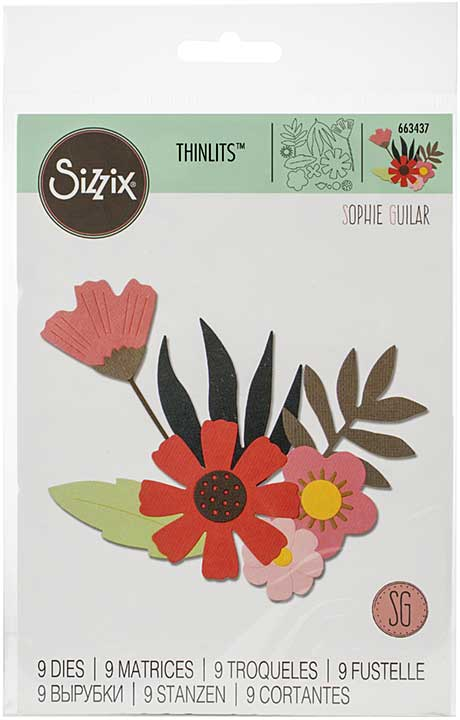 Sizzix Thinlits Dies By Sophie Guilar - Free Style Florals