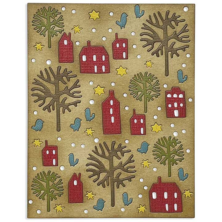 Sizzix Thinlits Die By Tim Holtz - Countryside