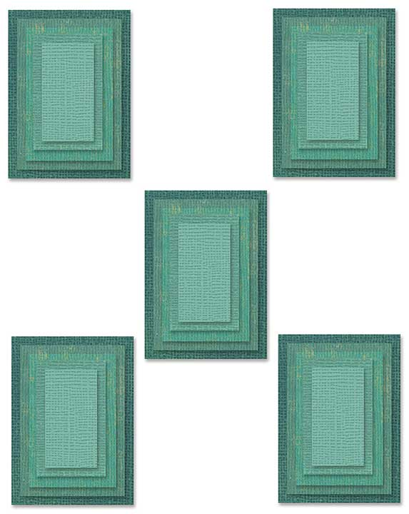 Sizzix Thinlits Dies By Tim Holtz 25pk - Stacked Tiles, Rectangles
