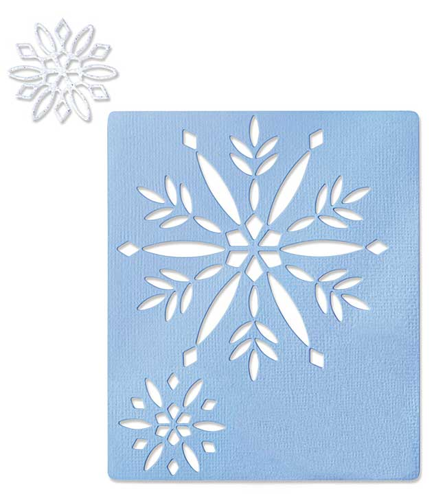 Sizzix Thinlits Dies 2pk - Cut-Out Snowflakes