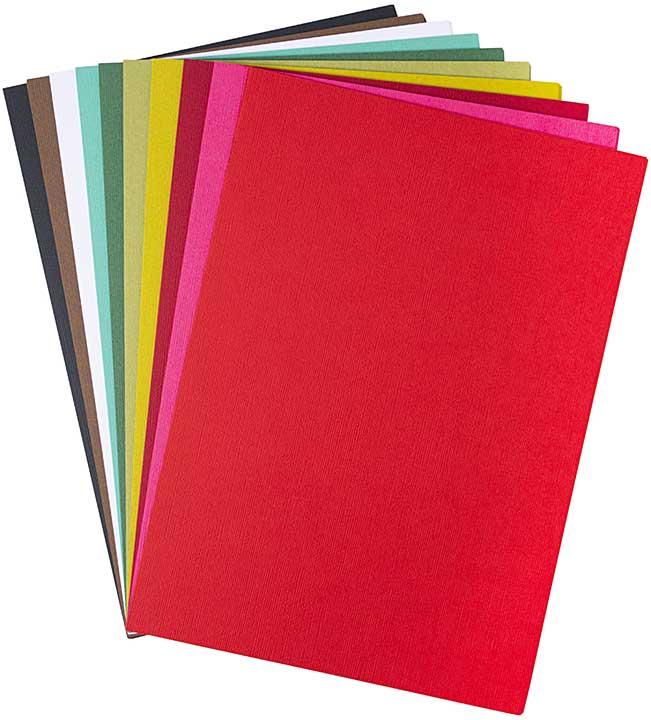 Sizzix Surfacez Cardstock Pack - Festive, 8x11.5 (60pk, 10 Colours)