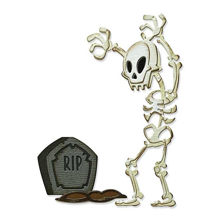 Sizzix Thinlits Dies By Tim Holtz 9pk - Mr. Bones Colourize