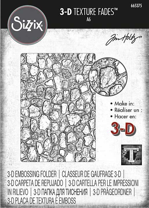 Sizzix 3D Texture Fades Embossing Folder By Tim Holtz - Cobblestone #2