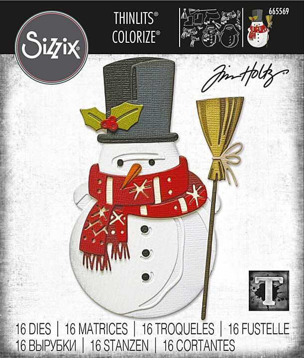 Sizzix Thinlits Dies By Tim Holtz 16pk - Winston Colourize