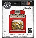 Sizzix Thinlits Dies By Tim Holtz 12pk - Retro Oven