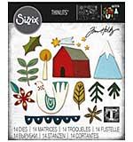 Sizzix Thinlits Dies By Tim Holtz 14pk - Funky Nordic