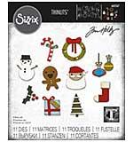 SO: Sizzix Thinlits Dies By Tim Holtz 11pk - Christmas Minis