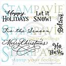 Tina Wenke - Clear Stamps - Merry Christmas