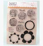 SO: MSE Clear Stamps - Word Flower Power