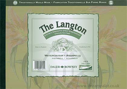 The Langton 10x14 - Extra Smooth Hot Pressed Grain - Watercolour Pad (12 Sheets, 140lb)