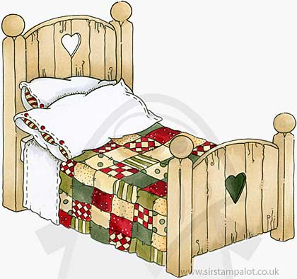 Molly Blooms - Wooden Bed