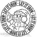 Molly Blooms - Jolly Snowman Postmark