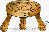Molly Blooms - Wooden Milking Stool