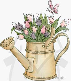NEW - Molly Blooms - Watering Can of Tulips