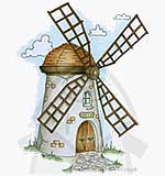 Molly Blooms - Whimsical Windmill