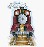 NEW - Molly Blooms - All Aboard Steam Train