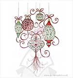 Wild Rose Studio - Clear Stamp - Baubles
