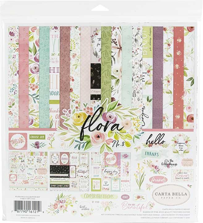 Carta Bella Collection Kit 12x12 - Flora No. 3