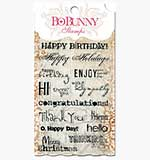 SO: Bo Bunny Clear Stamps Set - Sentiments Stamps