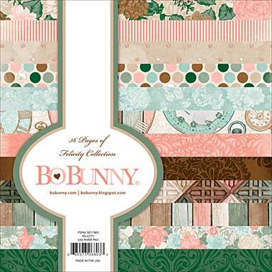 SO: BoBunny Felicity - Paper Pad 6x6 36pk (12 Designs 3 Each, Single-Sided)