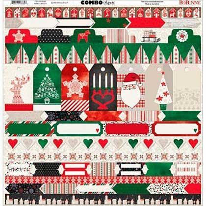 Bo Bunny Combo Stickers - Merry & Bright