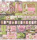 Bo Bunny Combo Stickers - Sweet Moments