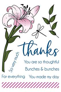 LDRS Creative - Clear Stamps - Lily