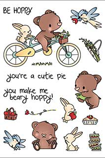 LDRS Creative - Clear Stamps - Beary Hoppy