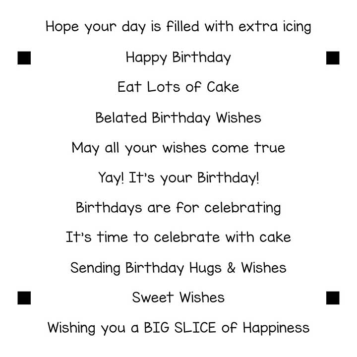 LDRS Creative - Clear Stamps - Happy Birthday