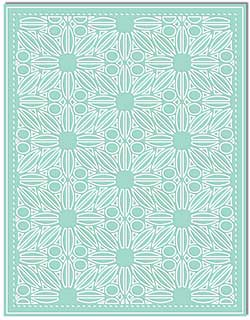 LDRS Creative - Designer Dies - Floral Mosaic A2 Cover Plate