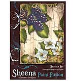 Sheena Douglass Paint Fusion A6 Unmounted Rubber Stamp - Berries
